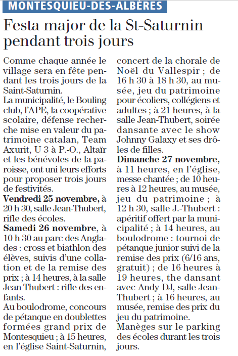 annonce st saturnin