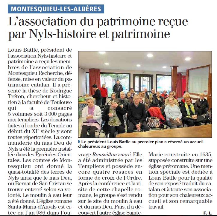 l'association du Patrimoine à Nyls